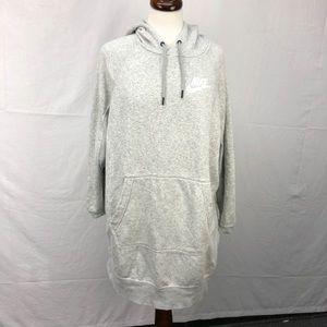 Nike Heather Grey Hooded Rally Jumper Dress